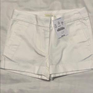 New crew cuts white shorts